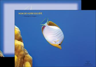modele en ligne affiche poisson et crustace poissons mer ocean MIF38888