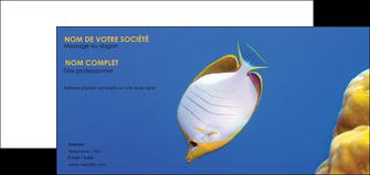 personnaliser maquette carte de correspondance poisson et crustace poissons mer ocean MIF38890