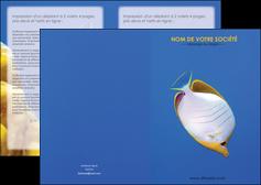 modele depliant 2 volets  4 pages  poisson et crustace poissons mer ocean MIF38892