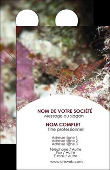 realiser carte de visite poisson et crustace crevette crustace animal MIS38996