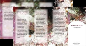 personnaliser modele de depliant 4 volets  8 pages  poisson et crustace crevette crustace animal MIF38998