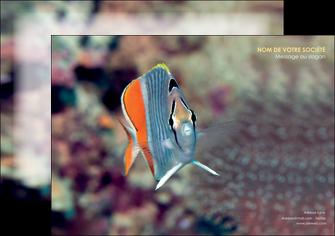 impression affiche animal poisson plongee nature MIF39426
