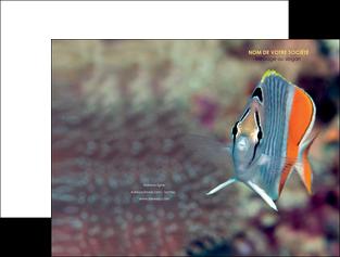modele en ligne pochette a rabat animal poisson plongee nature MIF39452