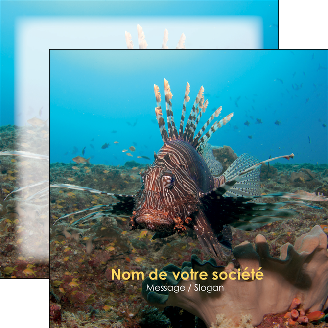 creer modele en ligne flyers animal poissons animal bleu MLGI39564