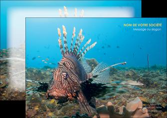 faire modele a imprimer affiche animal poissons animal bleu MLGI39574