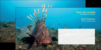 creer modele en ligne enveloppe animal poissons animal bleu MLGI39576