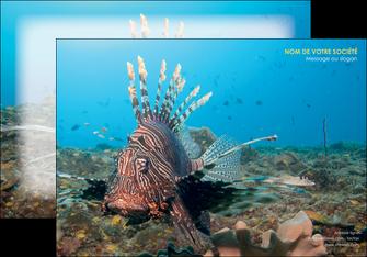 faire modele a imprimer affiche animal poissons animal bleu MLGI39578