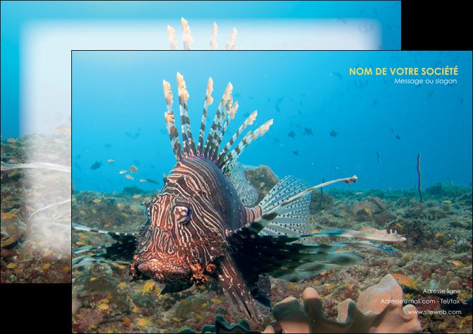 personnaliser maquette affiche animal poissons animal bleu MLGI39580