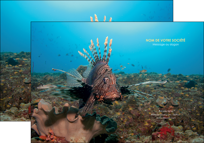 realiser pochette a rabat animal poissons animal bleu MLGI39586