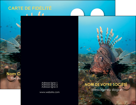 personnaliser maquette carte de visite animal poissons animal bleu MLGI39592