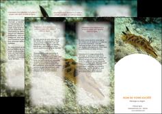 imprimerie depliant 3 volets  6 pages  animal crevette crustace animal MIF40130