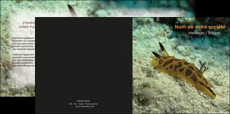 personnaliser modele de depliant 2 volets  4 pages  animal crevette crustace animal MIF40132