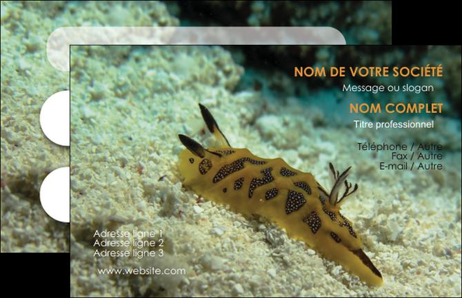 exemple carte de visite animal crevette crustace animal MIF40136