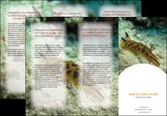 maquette en ligne a personnaliser depliant 3 volets  6 pages  animal crevette crustace animal MIF40150