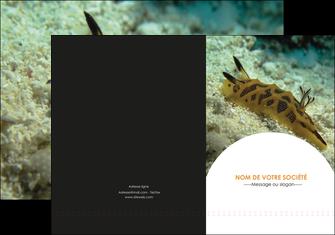 cree pochette a rabat animal crevette crustace animal MIF40152