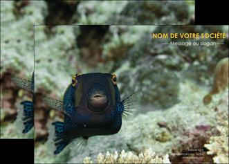 maquette en ligne a personnaliser affiche animal poisson sous marine nature MIF40206