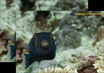 personnaliser maquette affiche animal poisson sous marine nature MIF40208