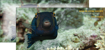 modele en ligne carte de correspondance animal poisson sous marine nature MIF40210