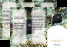 personnaliser maquette depliant 3 volets  6 pages  animal poisson sous marine nature MIF40218