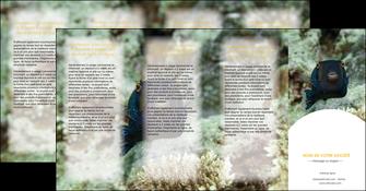 modele en ligne depliant 4 volets  8 pages  animal poisson sous marine nature MIF40228