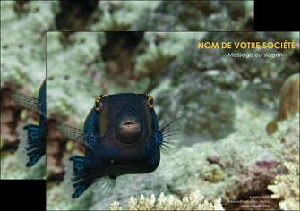 personnaliser maquette affiche animal poisson sous marine nature MIF40230