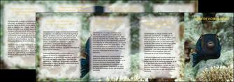 impression depliant 4 volets  8 pages  animal poisson sous marine nature MIF40232
