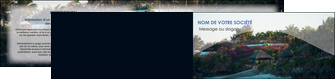 realiser depliant 2 volets  4 pages  agence immobiliere maison sur plage immobilier immobilier de luxe MLGI40256
