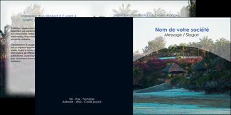 imprimerie depliant 2 volets  4 pages  agence immobiliere maison sur plage immobilier immobilier de luxe MIS40262