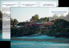 exemple depliant 3 volets  6 pages  agence immobiliere maison sur plage immobilier immobilier de luxe MIS40266