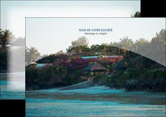 personnaliser modele de affiche agence immobiliere maison sur plage immobilier immobilier de luxe MIS40272