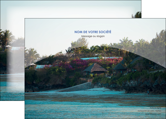 imprimer affiche agence immobiliere maison sur plage immobilier immobilier de luxe MIS40274