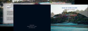 creer modele en ligne depliant 2 volets  4 pages  agence immobiliere maison sur plage immobilier immobilier de luxe MIS40278