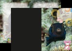 personnaliser maquette depliant 2 volets  4 pages  poisson sous  mer plongee MLIG40346