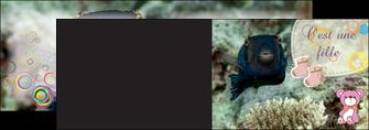 creation graphique en ligne depliant 2 volets  4 pages  poisson sous  mer plongee MLIG40354