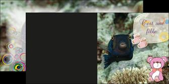 maquette en ligne a personnaliser depliant 2 volets  4 pages  poisson sous  mer plongee MLIG40358