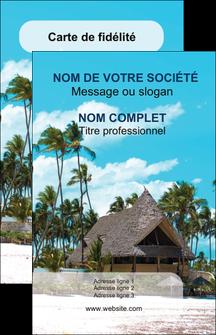 imprimer carte de visite agence immobiliere maison maison sur la plage lotissement MIS40588