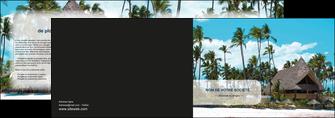 personnaliser modele de depliant 2 volets  4 pages  agence immobiliere maison maison sur la plage lotissement MIS40596