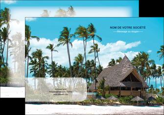creer modele en ligne affiche agence immobiliere maison maison sur la plage lotissement MIS40602