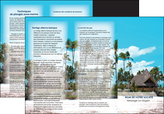 faire depliant 3 volets  6 pages  agence immobiliere maison maison sur la plage lotissement MIS40606