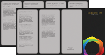 imprimerie depliant 4 volets  8 pages  peinture arc en ciel decale MIF40966