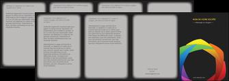 impression depliant 4 volets  8 pages  peinture arc en ciel decale MIF40968