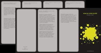 imprimerie depliant 4 volets  8 pages  texture contexture structure MIS41372
