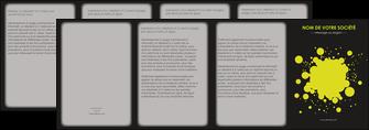 maquette en ligne a personnaliser depliant 4 volets  8 pages  texture contexture structure MIS41384