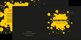 personnaliser modele de depliant 2 volets  4 pages  abstrait art artistique MLIG41484