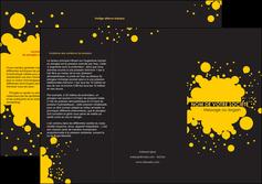 modele en ligne depliant 3 volets  6 pages  abstrait art artistique MLIG41488