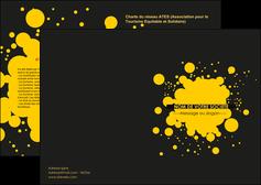 personnaliser modele de depliant 2 volets  4 pages  abstrait art artistique MLIG41508