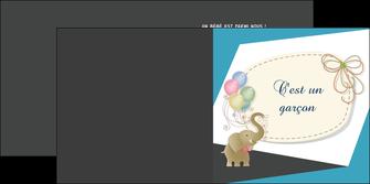 imprimer depliant 2 volets  4 pages  elephant ballons noeud MLIG41678
