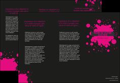 modele en ligne depliant 3 volets  6 pages  peinture rose tache de peinture MLIG41694