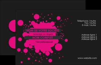 creer modele en ligne carte de visite peinture rose tache de peinture MLIG41712