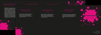 exemple depliant 4 volets  8 pages  peinture rose tache de peinture MLGI41720